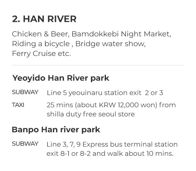 2. HAN RIVER