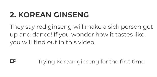 2. KOREAN GINSENG