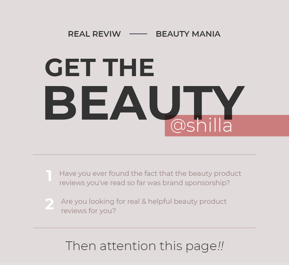GET THE BEAUTY @ SHILLA