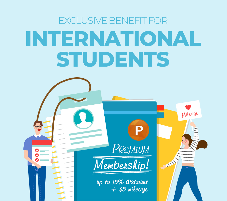 EXCLUSIVE BENEFIT FOR INTERNATIONAL STUDENTS